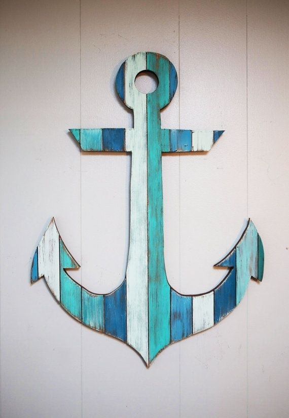 This Custom Hand Painted Anchor Is One Of Our Favorite Pieces (View 3 of 25)
