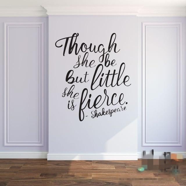 Though She Be But Little She Is Fierce Shakespeare Quotes Baby With Though She Be But Little She Is Fierce Wall Art (View 11 of 25)
