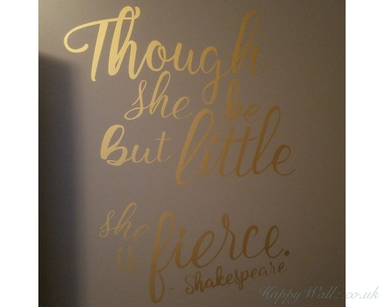 Though She Be But Little She Is Fierce – Shakespeare Quotes Wall Intended For Though She Be But Little She Is Fierce Wall Art (Image 14 of 25)