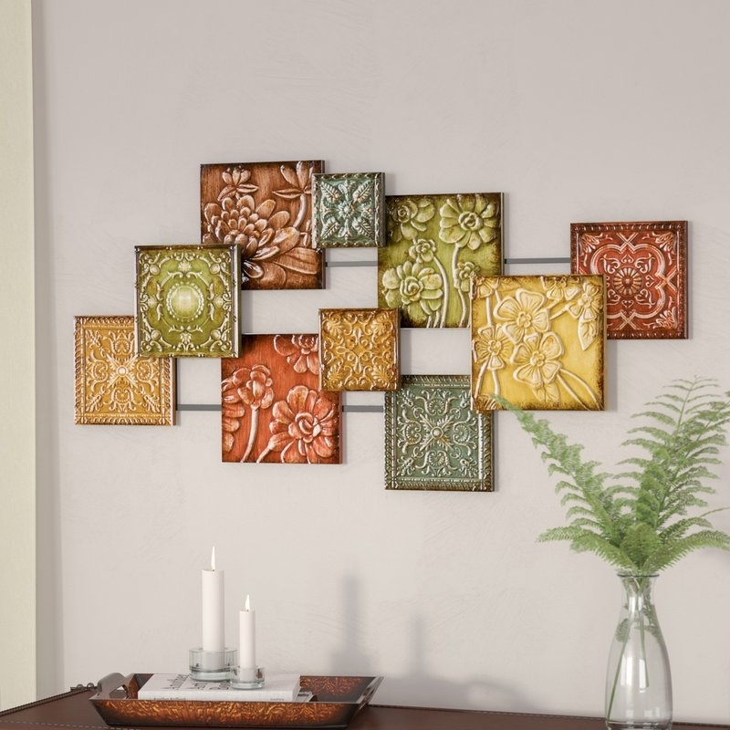 Three Posts Hodges Square Panel Wall Décor & Reviews | Wayfair Intended For Panel Wall Art (Image 22 of 25)