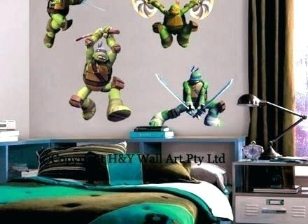 Tmnt Wall Decals Ninja Turtle Wall Decals Teenage Mutant Ninja In Ninja Turtle Wall Art (Image 24 of 25)