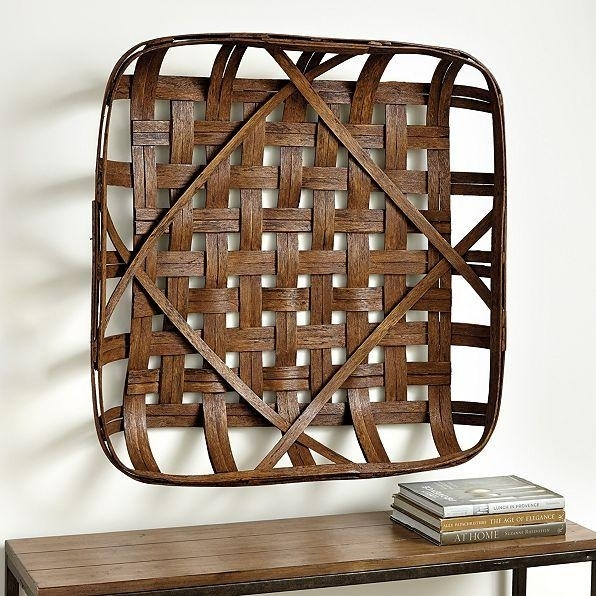 Tobacco Basket Wall Décor Throughout Woven Basket Wall Art (Image 8 of 25)