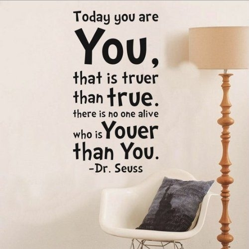 Toprate(Tm) Dr Seuss Today You Are You Wall Art Vinyl Decals Throughout Wall Art Sayings (Image 12 of 25)