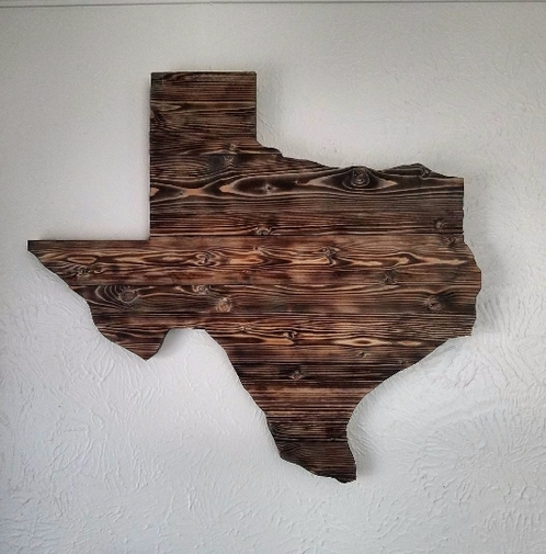 Torched Wood Texas Wall Art Intended For Texas Wall Art (View 23 of 25)