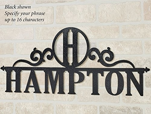 Touch Of Class Metal Occasions Personalized Wall Art Sign Letter Intended For Touch Of Class Wall Art (View 13 of 25)