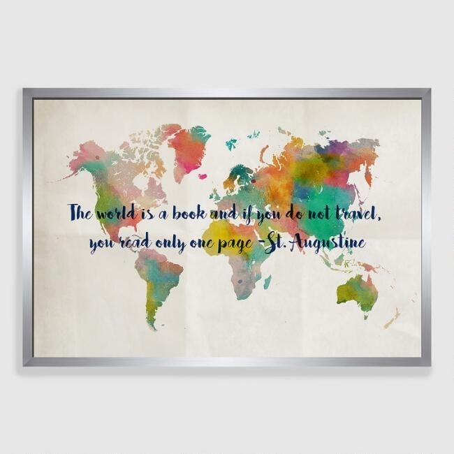 Travel Wall Art Interesting Maps World Market – Mycraftingbox With Regard To World Market Wall Art (Image 17 of 25)