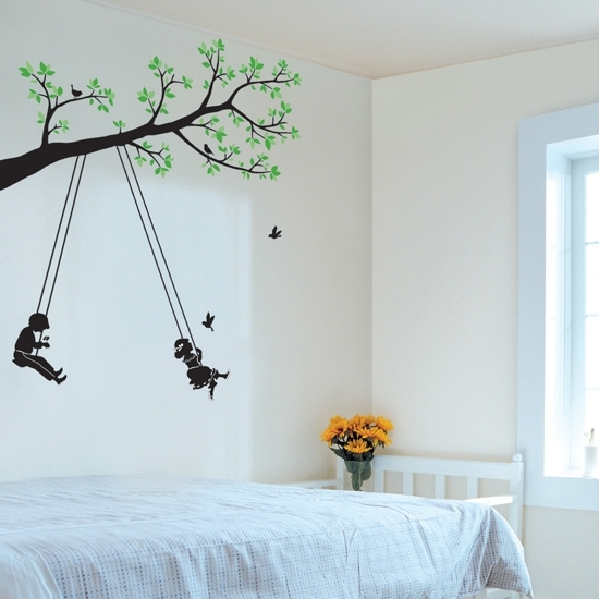 Tree And Swing Wall Art Stickers Will Belong To You, Your Wife And For Wall Tree Art (View 20 of 20)