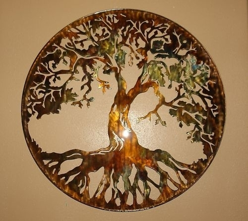 "Tree Of Life Metal Wall Art 24"" With Led Lightshgmw Inside Tree Of Life Wall Art (Image 6 of 10)"