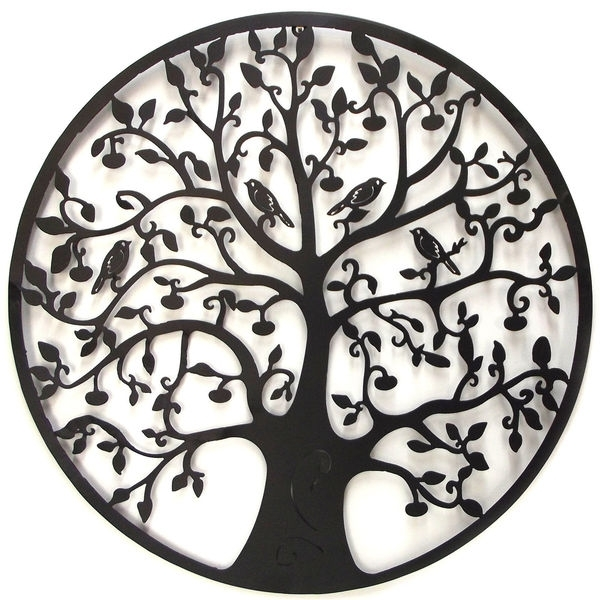 Tree Of Life Metal Wall Art 60Cm Regarding Tree Of Life Metal Wall Art (View 3 of 10)