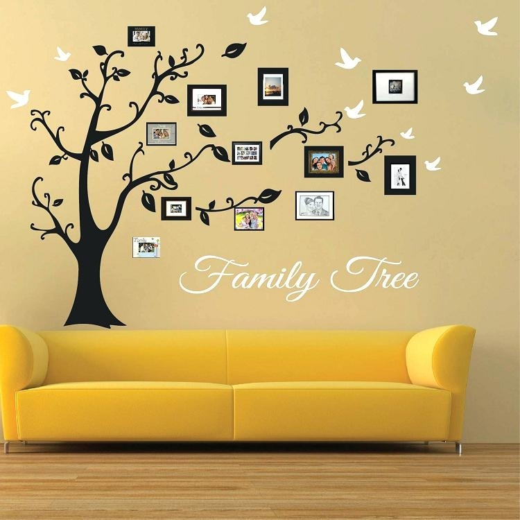 Tree Photo Collage Wall Art Family Picture Frames Picture Frame For Family Tree Wall Art (View 4 of 10)