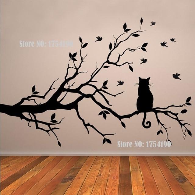 Tree Vinyl Wall Decal Adesivi Murali Glass Film Window Stickers Home Within Tree Wall Art (Image 7 of 10)
