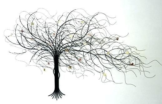 Tree Wall Art Metal Metal Wall Art Decor Metal Tree Wall Oak Tree With Regard To Metal Wall Art Trees (Image 20 of 25)