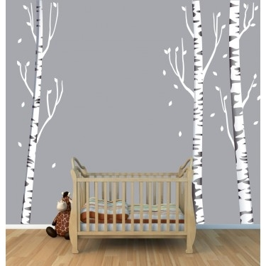 Tree Wall Art With Birch Tree Wall Decals For Kids Rooms Intended For Birch Tree Wall Art (Image 25 of 25)