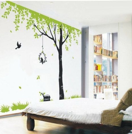 Tree Wall Decals Kids Wall Art Nature Wall Stickers Wall Decor Room With Nature Wall Art (Image 23 of 25)