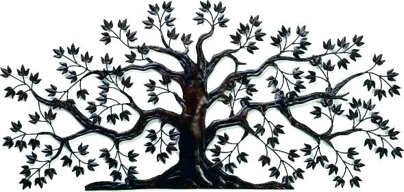 Trees Metal Wall Art Metal Wall Art Trees Tree Wall Art Metal Metal Within Metal Wall Art Trees (Image 22 of 25)