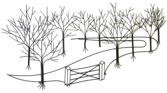 Trees & Woodland Metal Wall Art | Metal Wall Art | Contemporary Art Inside Metal Wall Art Trees (View 20 of 25)