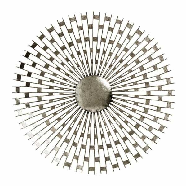 Tribeca Silver Metal Round Wall Art With Round Wall Art (Image 23 of 25)