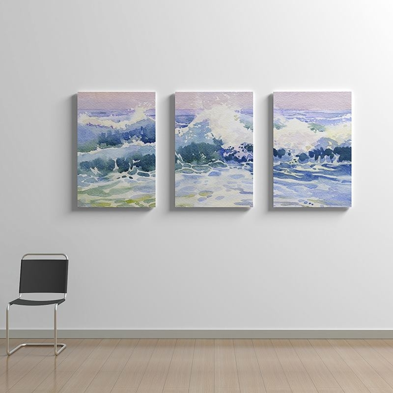 Triptych Canvas: Handmade 3 Panel Wall Art Printed With Your Designs Pertaining To Triptych Wall Art (Image 16 of 25)