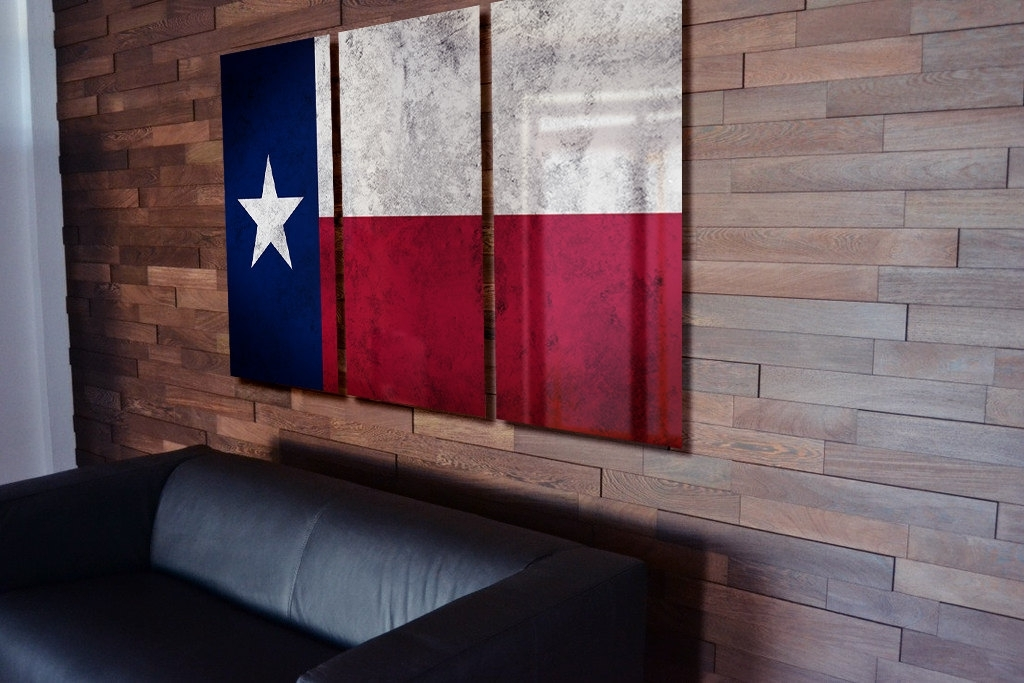 Triptych Texas State Trend Texas Wall Art – Wall Decoration Ideas Within Texas Wall Art (Image 22 of 25)