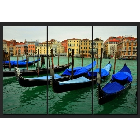 Triptych Wall Art – Gondolas In Venice – Home Photo Deco Throughout Triptych Wall Art (Image 18 of 25)