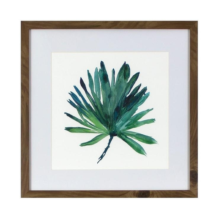 Tropical Leaf Framed Wall Art In Tropical Wall Art (Image 11 of 20)