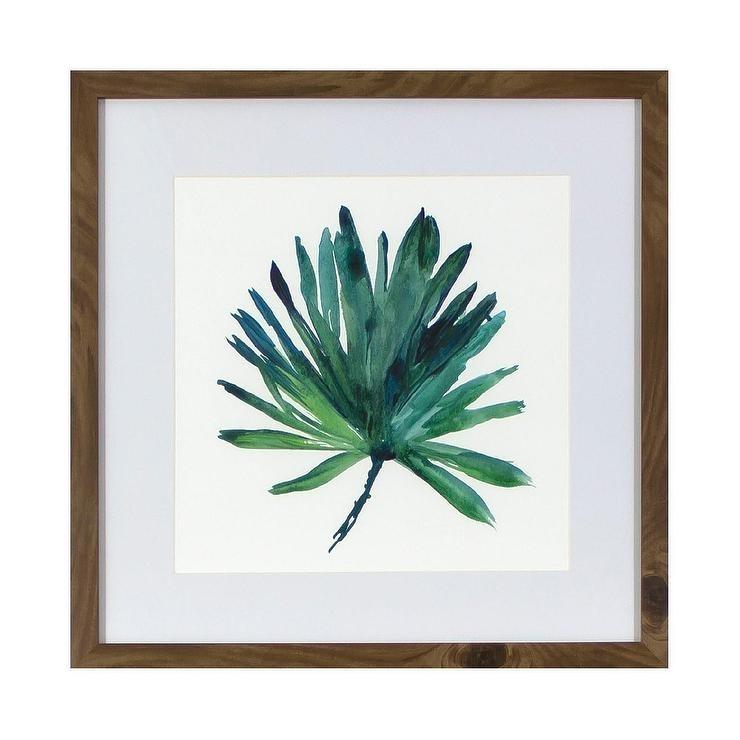 Tropical Leaf Framed Wall Art In Tropical Wall Art (Image 11 of 20)