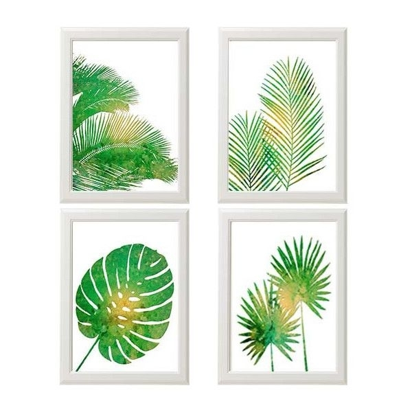 Tropical Palm Print Set, Green Wall Art, Tropical Wall Art, Palm Within Tropical Wall Art (Image 13 of 20)