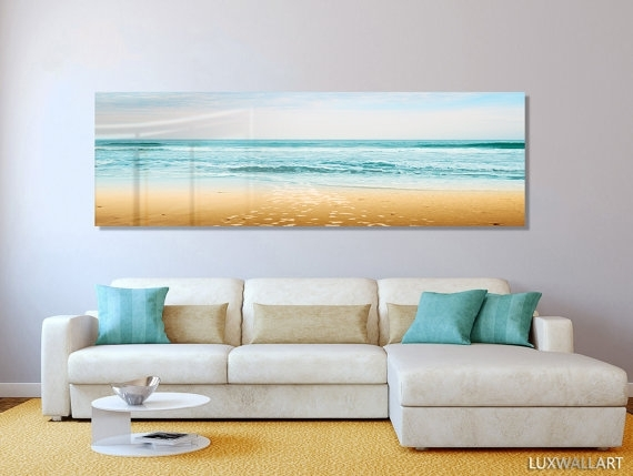 Turquoise Beach Ocean Panoramic Modern Contemporary Hd Metal Wall For Panoramic Wall Art (Image 9 of 10)