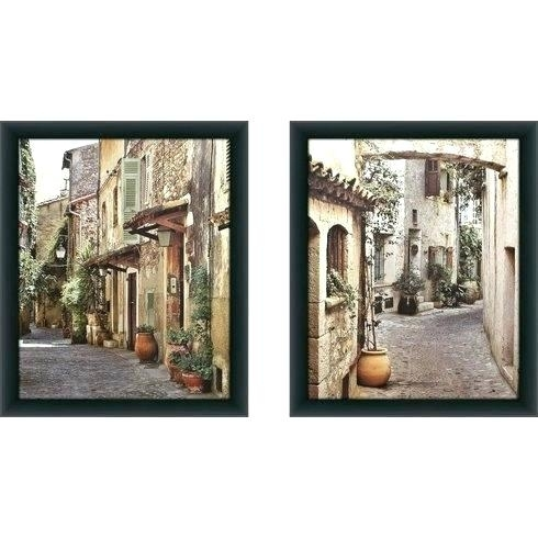 Tuscan Framed Art Framed Wall Art Alleyway 2 Piece Framed Inside Tuscan Wall Art (Image 10 of 25)