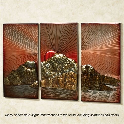 Tuscan Sunrise Factory Second Metal Wall Art Panel Set With Regard With Metal Wall Art Panels (View 17 of 20)
