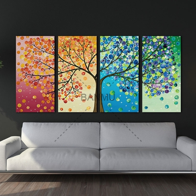 Unframe Wall Art Canvas Painting Decoration For Living Room Picture Throughout Wall Art Canvas (Image 8 of 10)