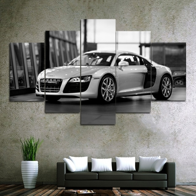 Unframed 5 Piece Car Canvas Prints Painting Home Decor Wall Art regarding Car Canvas Wall Art