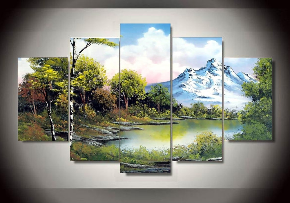 Unframed Printed Ross Landscape Painting Wall Art Children's Room Intended For Ross Wall Art (Image 17 of 20)