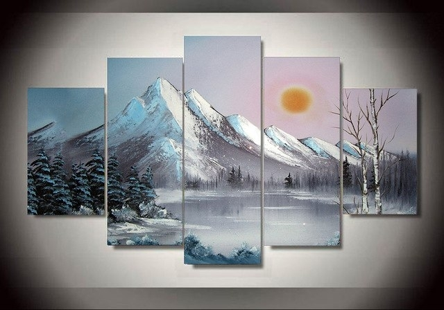 Unframed Printed Ross Snow Landscape Painting Wall Art Children's with regard to Ross Wall Art