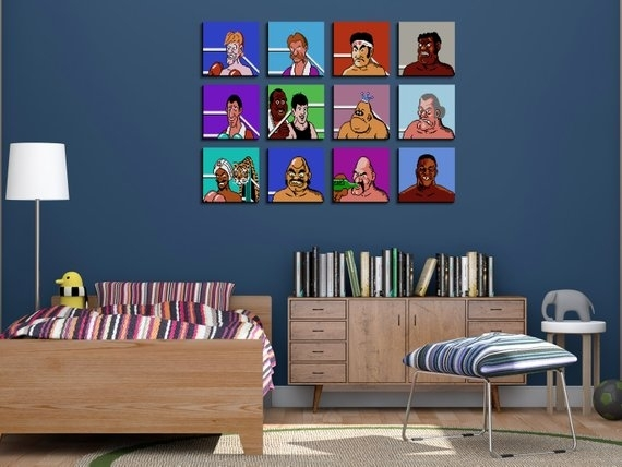 Unique 80S Throwback Mike Tysons Punch Out Nintendo Wall Art | Etsy Within Nintendo Wall Art (View 2 of 20)