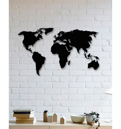 Unique Custom Designed Wall Decoration Product,world Map Metal Wall Art With Regard To Wall Art World Map (Photo 1 of 25)