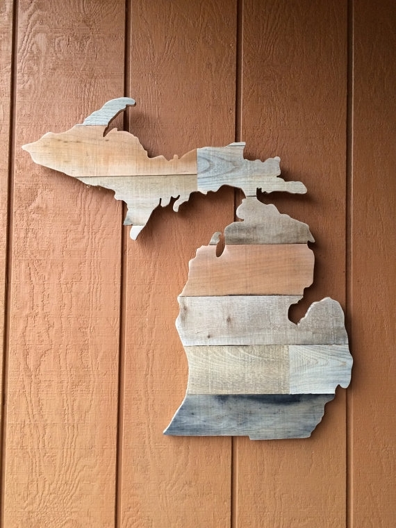 Unique Ideas Michigan Wall Art Detroit Print Etsy – Wall Art Ideas Intended For Michigan Wall Art (Photo 6 of 25)