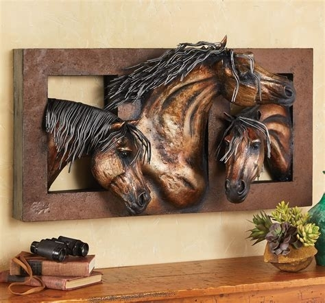 Unique Metal Horse Wall Art : Andrews Living Arts – Showing Metal Throughout Horse Wall Art (Photo 6 of 10)