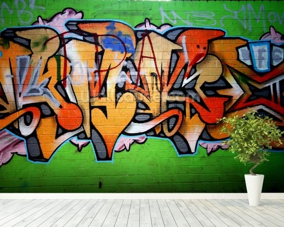 Urban Graffiti Wallpaper Wall Mural | Wallsauce Canada With Graffiti Wall Art (Photo 9 of 25)