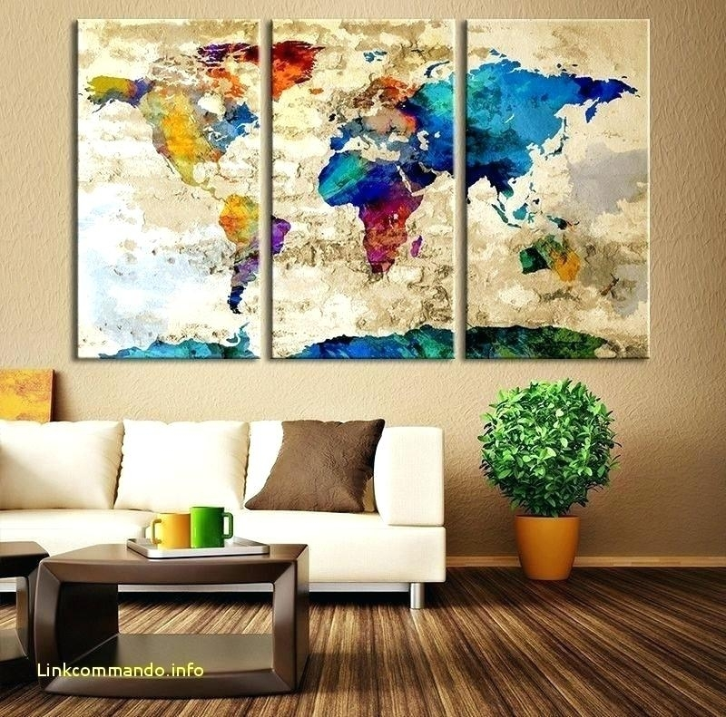Us Map Wall Art Us Map Wall Decor Map Wall Decor Luxury Watercolor Pertaining To Wall Art Map Of World (Image 9 of 25)