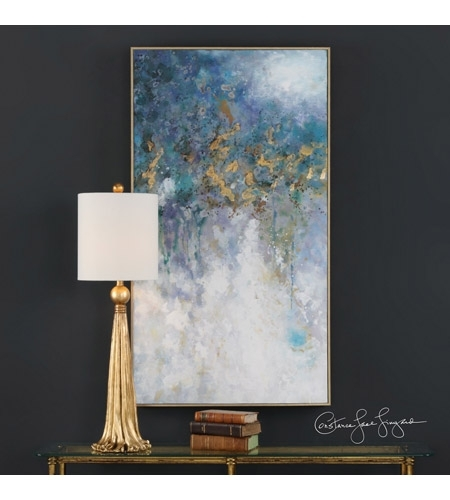 Uttermost 31407 Floating Gold Leaf Abstract Wall Art Within Uttermost Wall Art (Image 12 of 25)