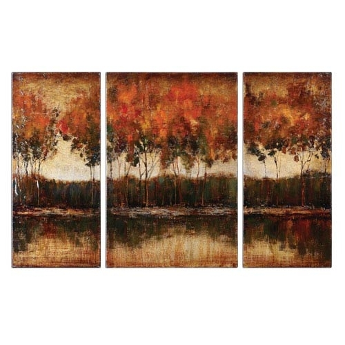 Uttermost Painted Vibrant Wall Art | Bellacor Throughout Uttermost Wall Art (Image 14 of 25)