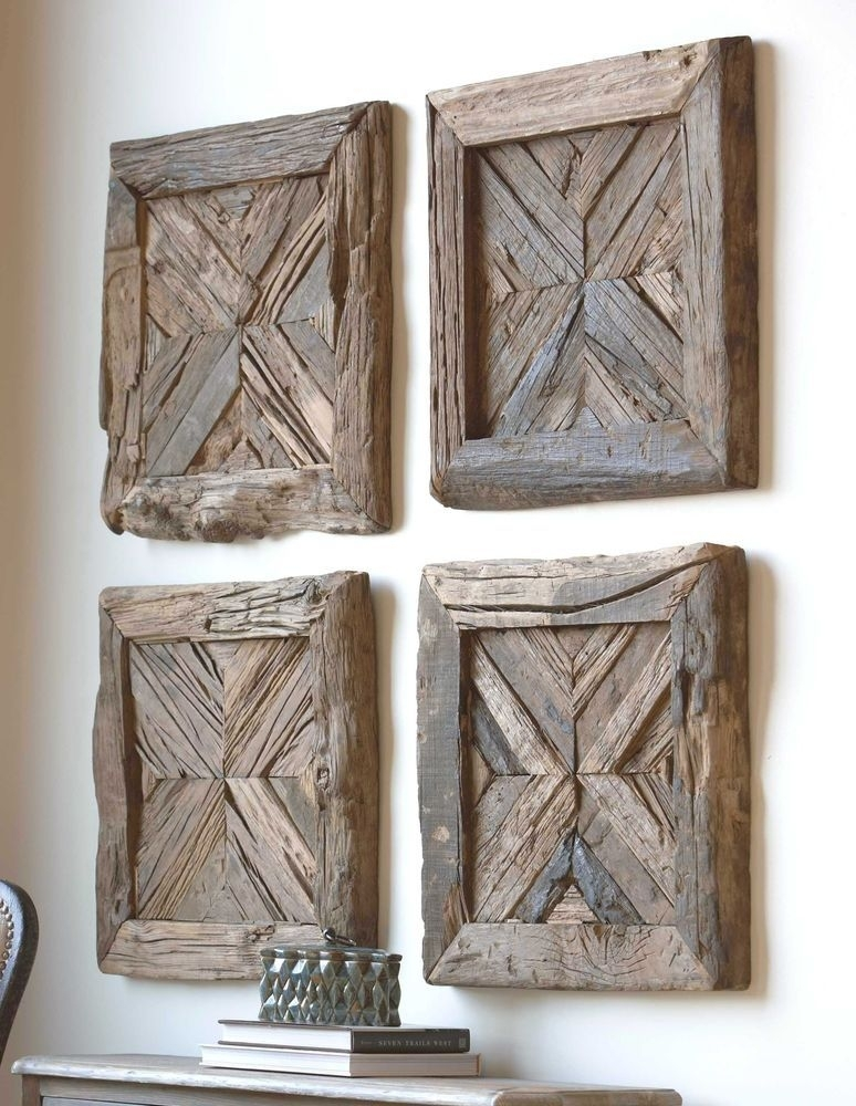 Uttermost Rennick Reclaimed Wood Wall Art | Rancho Mirage With Regard To Uttermost Wall Art (Photo 13 of 25)