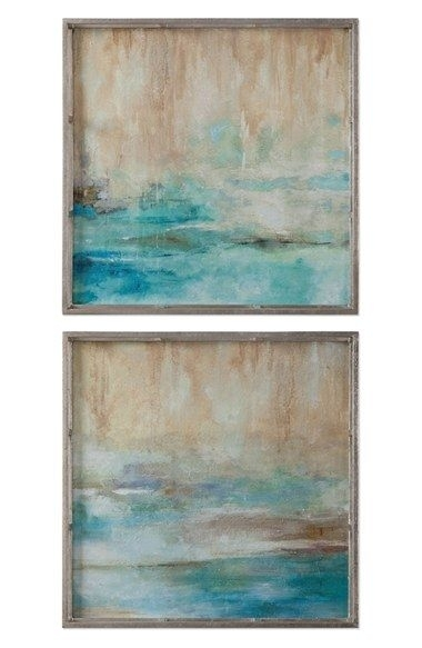 Uttermost 'through The Mist' Abstract Framed Wall Art (Set Of 2 Pertaining To Set Of 2 Framed Wall Art (Image 17 of 25)