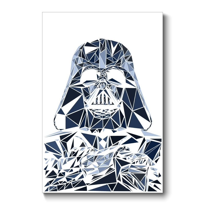 Vader Abstract Wall Art Canvas Print Intended For Darth Vader Wall Art (View 13 of 25)