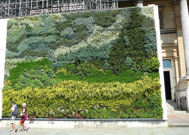 Van Gogh Vertical Garden In London's Trafalgar Square – Living Walls In Living Wall Art (View 10 of 25)