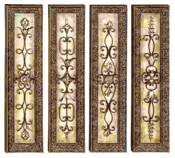 Vertical Metal Wall Art Cool Metal Wall Scrolls Decor Square Wrought Throughout Vertical Metal Wall Art (Image 15 of 25)