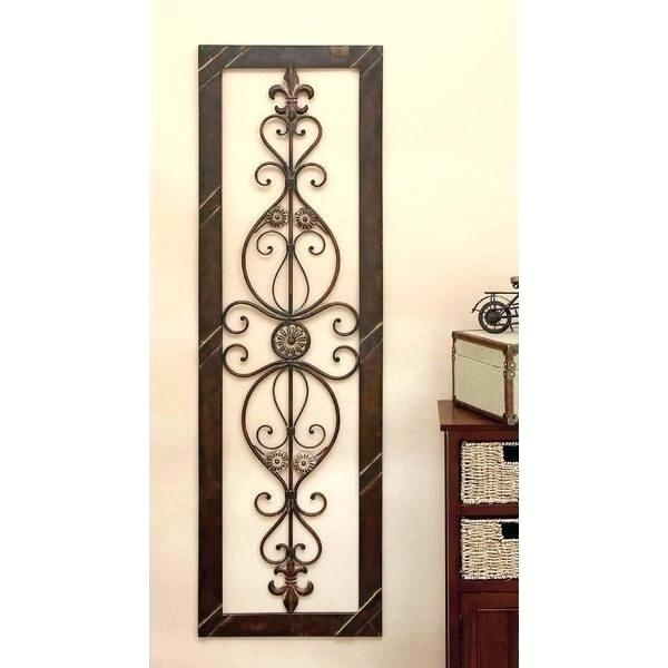 Vertical Wall Decor Lazy Vertical Shapes Wall Decor Vertical Metal inside Vertical Metal Wall Art
