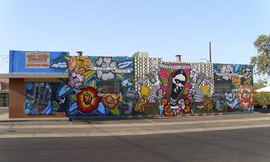 "Vibrant Street Art Mural: ""bienvenidos A Arizona,"" Phoenix… | Flickr With Regard To Arizona Wall Art (View 14 of 25)"