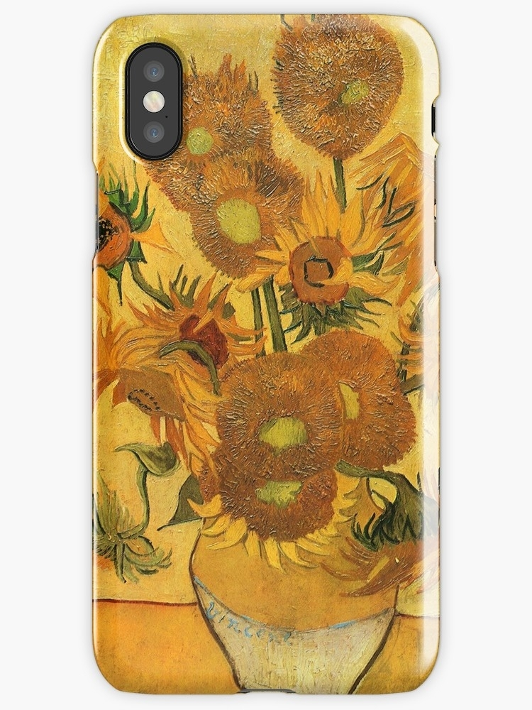 "Vincent Van Gogh Sunflowers Wall Art Vintage Retro Posters"" Iphone Inside Sunflower Wall Art (Image 25 of 25)"
